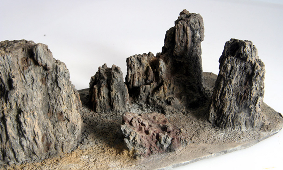 Cripplebush Valley Models - Basalts: Pinnacles (Detail)
